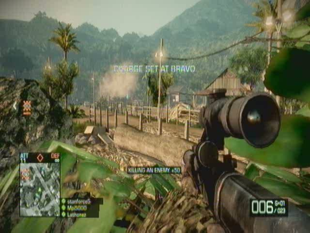 Mortar Strikes are a good way to bombard an M-COM to prevent any | Battlefield: Bad Company 2