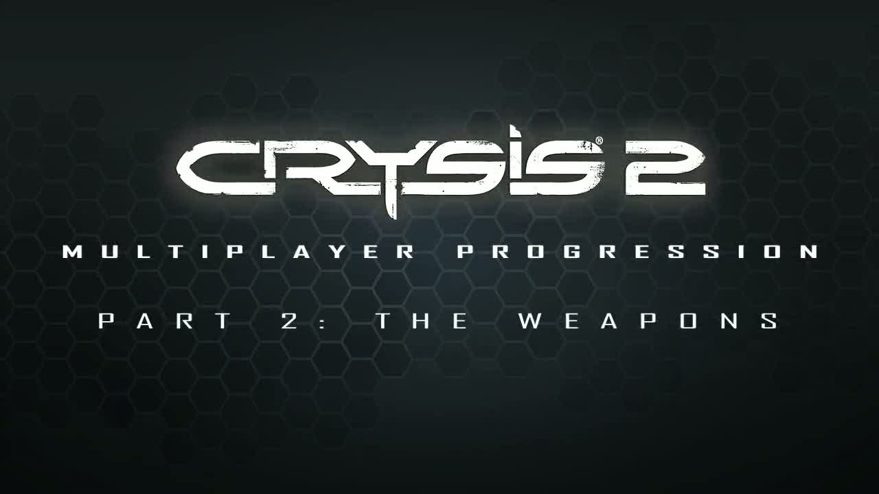Multiplayer progression: Part 2: Weapons | Crysis 2
