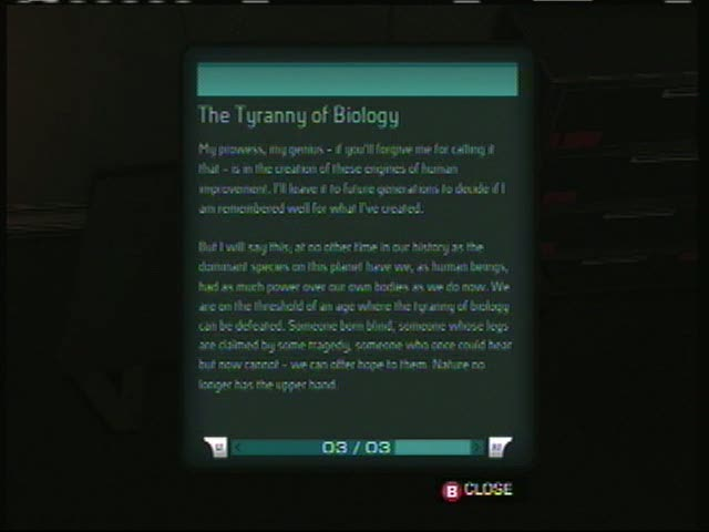 ebook04 The Tyranny of Biology | Deus Ex: Human Revolution
