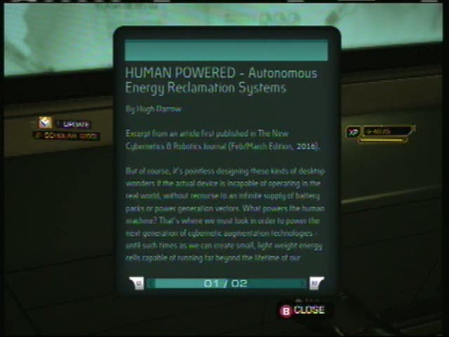 ebook23 HUMAN POWERED - Autonomous Energy Reclamation Systems | Deus Ex: Human Revolution