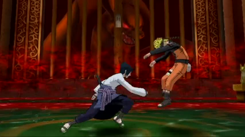 Sasuke jutsu moves video | Naruto Shippuden: Clash of Ninja Revolution 3