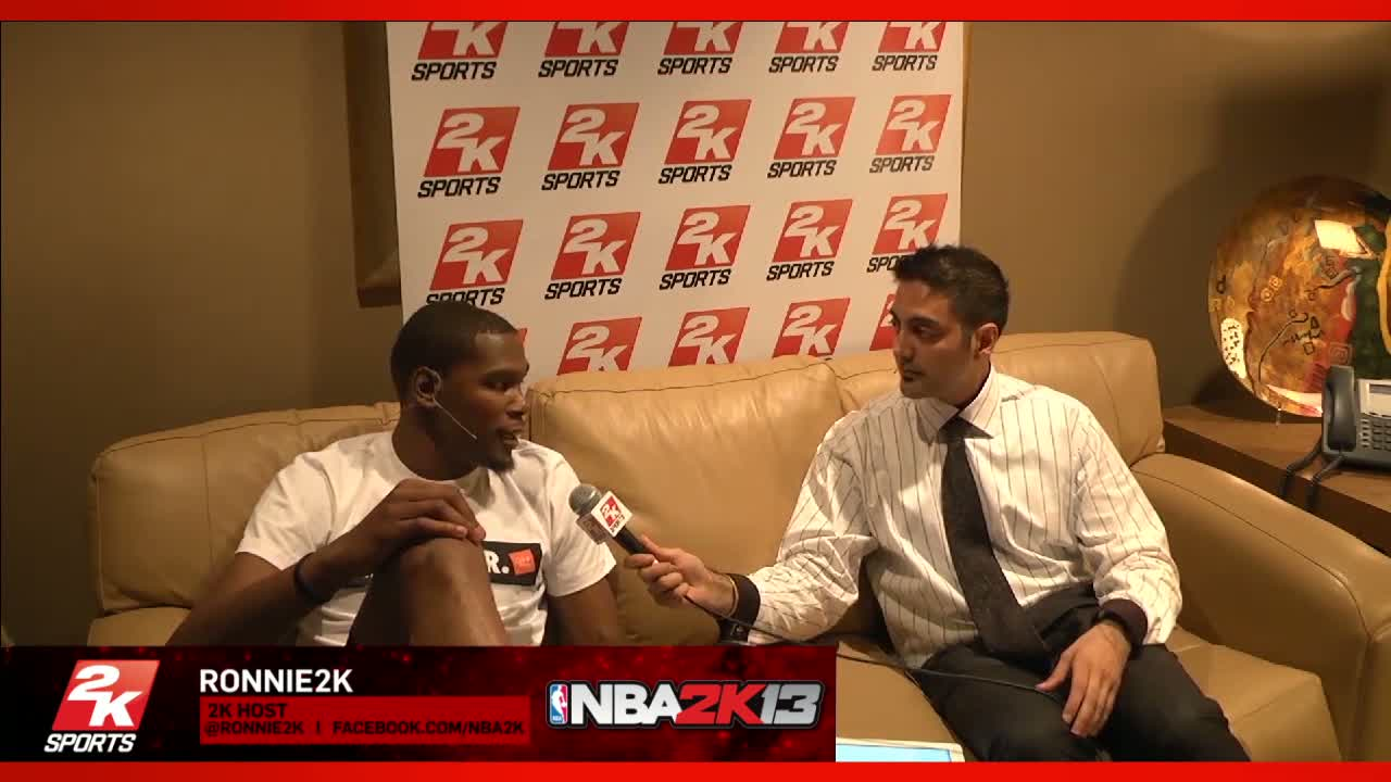 Kevin Durant Interview | NBA 2K13