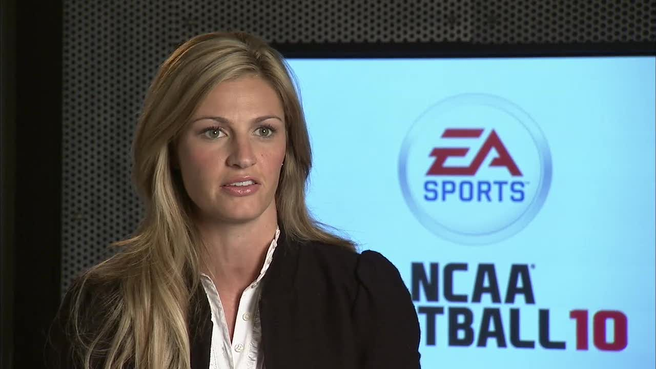 Erin Andrews announcement video | NCAA Football 10