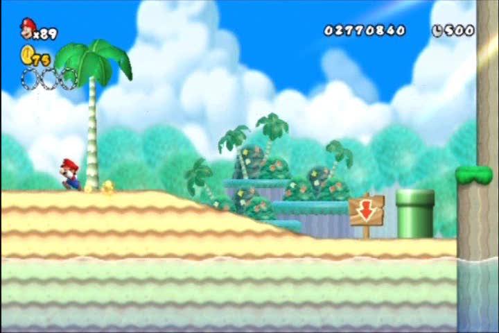 World 4-4 Star Coin Guide | New Super Mario Bros