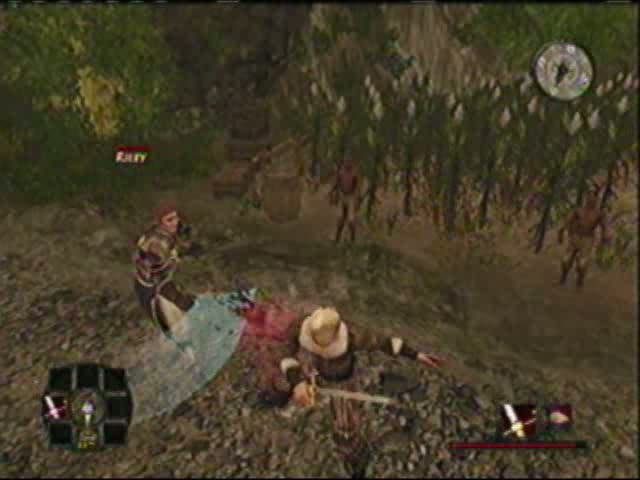 A duel with swords to obtain the stolen bandana from Riley | Risen 2: Dark Waters