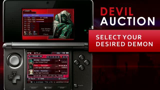 'Auction & Fusion' Trailer | Shin Megami Tensei: Devil Survivor Overlocked