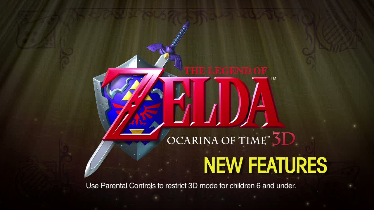 'New Features' Trailer. | The Legend of Zelda: Ocarina of Time 3D