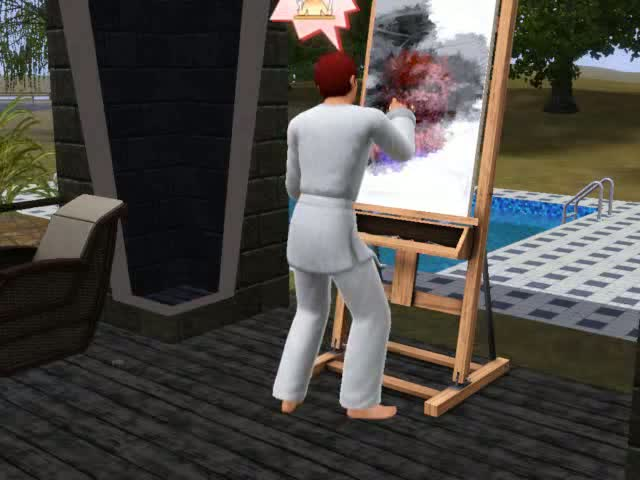 In addition to earning quick money Painting leads to Fame | The Sims 3: Late Night