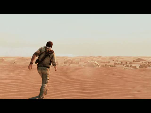 B-Roll Video - Desert Village  | Uncharted 3: Drake's Deception